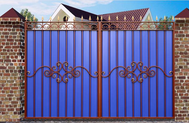 Ворота своими руками фото